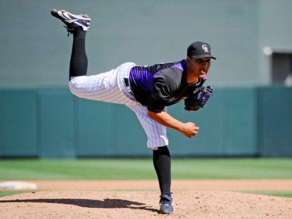 Jhoulys Chacin has quietly become one of the better Starting Pitchers in the League.  What the Rox fans have to be happy about - is that he doesn't give up HRs.  In fact, he leads the NL with a 0.3 HR/Per 9 IP this year.  Chacin is 11 - 6