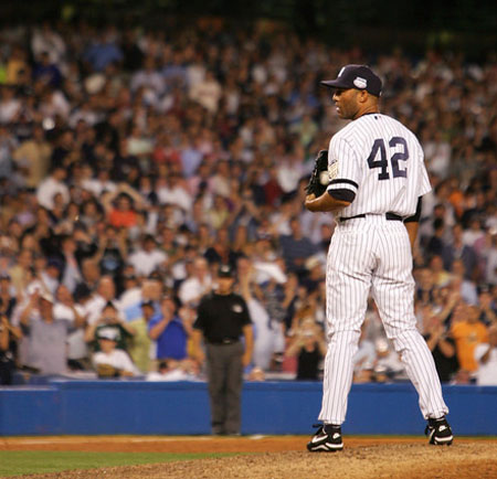 Mariano Rivera holds the ALL-Time Record for any closer (active of retired) with 638 Saves.  He has been the most dominant Relief Pitcher on the planet over the last two decades.  What is incredible, is that he never has a bad season - which is prone to happen to even Hall Of Fame Pitchers.  Rivera also leads Active Pitchers in ERA (2.20), Games Finished (1089) and a WHIP 1.005. Add another 42 Saves, and a 0.70 ERA in 142 IP in his Post Season Career - and you are talking about the standard which any future Closer will be measured up to.