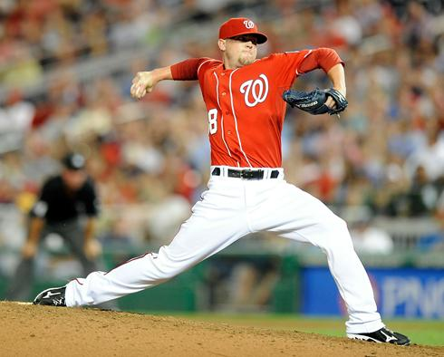 Drew Storen had a horrific start to the year, so much so, that the Nats sent him down to the Minor Leagues - which seems to have  straigthened him out. Since he was recalled, he has thrown 4 innings, and only allowed 1 hit and 0 Walks.  That has to be satisfying after yielding back to back 3 ER outings in consecutive appearances during July - leading to his demotion.