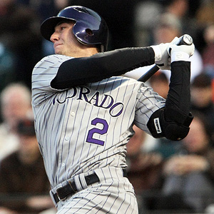 Troy Tulowitzki just broke his ribs  - and cant ever seem to keep healthy. He is hitting .347/.413/1.048 with 16 HRs and 51 RBI out of the Shortstop position.  The Rockies are startling to lose without him in the lineup - just like last season, when they dropped 93 games with Tulo only playing in 47 Games
