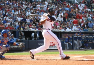 Jason Heyward has given the club faith he can take over as the team's Leadoff guy.  He featured a 3 Slash of .322/.405/.954 with 30 Runs Scored in 30 Game Starts from that position.  If he can keep up a similar track in 2014 from there it could mask B.J.'s poor totals going forward.
