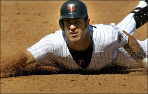 Joe Mauer had a great comeback season in  2012 - hitting for a 3 Slash Line of .319/.416/.861 after hitting just .287/.360.729 the year before.  He needs his battering mate Justin Morneau to return to his MVP status if the club wants to compete with AL powerhouse teams
