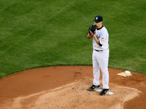 Heading into 2013, Hughes had a Career Record of 52-36 (.591) - with a 4.39 ERA.  He was projected to be the #4 starter for the Yankees in 2013.  He has struggled this campaign to the tune of 4 - 9, with a 4.598 ERA to date.  He is 1 - 7, with a 6.02 at Yankee Stadium, where he is 3 -2, with a 3.02 ERA Away.  The man needs a change of scenery.