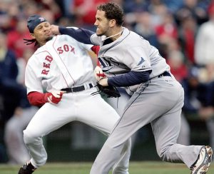 It was a bunch of team 'Base Brawls' with the Red Sox that helped the franchise start to gain respect amongst baseball.  These happened in June of 2008.  The Rays have had more success than the Red Sox since then