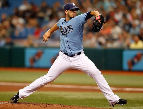 James Shields has 2 years left on his contract with the Rays.  He was the first player they signed to many years of Club Options.  It is a system they have used to sign Zobrist, Longoria and Moore.  It gives the team the flexibility to option out of a contract with a player heading into any year