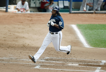 Rickie Weeks had a rough 2012 campaign, only hitting .230. He still managed, though, to slug 21 HR and knock in 63 runs.