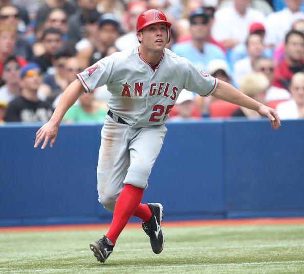 Peter Bourjos was moved into CF - and the LA Angels then shifted Mike Trout over to LF, based on the range of  Bourjos as an OF.  He is fast, and has shown that he can be a catalyst in a lineup.  His best year was in 2011, where he played a full season, 3 Slashing .271/.327/.765 - with 12 HRs, an AL leading 11 - 3B, 26 - 2B - and added 32 SB.  The Cardinals will have him patrol CF with them in St. Louis.  Bourjos has 3 years left of Arbitration, while Freese only has 2 years left.  The Angels also swapped their top OF prospect in the deal - for help in Reliever (but trending down) Fernando Salas.