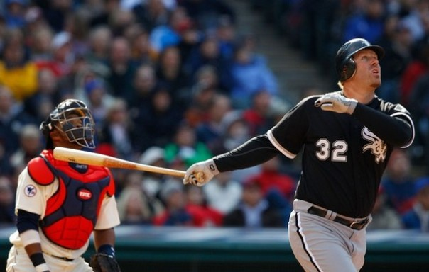 Adam Dunn has hit 38 + HRs in 8 of the last 9 years.started this season with a different approach and mentality at the plate. He was going to take less pitches, and be more aggressive. As good of an idea as this seemed at the time, Dunn got off to a terrible start. And now, only 24 games in, Dunn appears to have gone back to his old approach. All or nothing, K or HR, take your pick. But this has been Dunn's MO his entire career. The Sox knew what they were getting when they signed him. The big man has a 3 Career Slash of .181/.309/.691 with the Sox - adding 57 HRs and 149 RBI in 1038 AB.