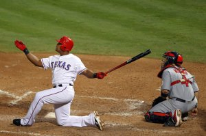 Adrian Beltre is still not receiving enough credit for his overall play in the MLB during the last 4 years.  The 34 Year Old (elder stateman of the club) hit for a 3 Slash of .315/.380/.880 in 2013, and finished 7th in AL MVP Voting.  He led the AL with 199 hits last campaign.  In 3 seasons with Texas, the man has an OPS of ,898 - while cracking 98 HRs and 299 RBI in  441 Games Played.