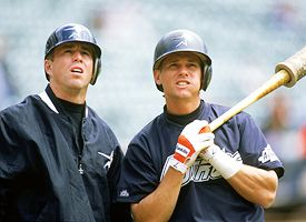 Craig Biggio and Jeff Bagwell both were lifetime Astros.  Biggio was drafted in the 1987 by the club (22nd Overall) - while Bagwell came over in a trade for Larry Andersen.  Both of them made their debut on April.8.1991.  The club hopes to find the next two Astros teammates to be lifer's in the next couple of drafts