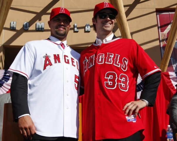 C.J. Wilson signed with the LAA in for 5 YRS/$77.5 MIL - followed up by Albert Pujols inking his name on a deal for 10 YRs/$254 MIL in the same offseason.  But they weren't done the following year, as they locked Hamilton in to a 5 YR/$133.5 MIL contract - and then opted for Joe Blanton  2 YRs/$16 MIL.  This amounts to $475 MIL in dollars allocates to Free Agents.  With a spent Team Salary, and still the want to compete, the club will look for a 2 - 3 year Starting Pitching that they can acquire via trade, as oppose to another overpay on the open market.  So who will land Trumbo in a deal:  Pittsburgh? Tampa Bay? Miami?  St. Louis? Or another team?