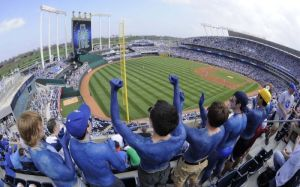 The fans at Kauffman have the longest playoff drought of any MLB franchise, that ends in 2014.