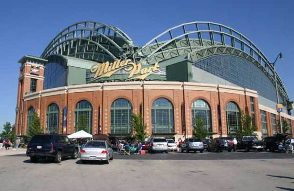 Miller Park is an underrated sneaky wicked park.  Yesterday's sellout watched a 10 - 0 drubbing by the Colorado Rockies.