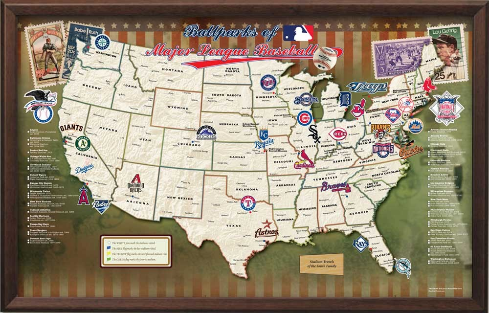 Map Of Arizona Diamondbacks Stadium.The History Of Extreme Ballpark Chasing 1993 2013 30 Mlb Team