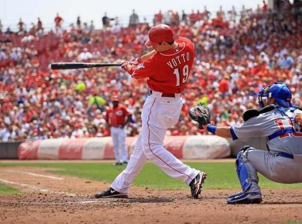 """Would putting Joey Votto in the 2 hole be that bad of an idea for the Reds?  They still could bat Brandon Phillips in the 3 slot - and Jay Bruce in the 4th slot.  Todd Frazier could then hit 5th.  Even when Ryan Ludwick comes back - he could hit further down in the order.  Zack Cozart is not hitting up to snuff in the position right now.  Putting Choo and Votto back to back, would mean a base runner would happen in the 1st inning at a great clip Putting Choo and Votto back to back, would mean a base runner would happen in the 1st inning at a great clip"""" src=""""https://mlbreports.files.wordpress.com/2012/05/joey-votto.jpg?w=604"""" width=""""604"""" height=""""447"""" /> Would putting Votto in the 2 hole be that bad of an idea for the Reds? They still could bat Phillips in the 3 slot - and  Bruce in the 4th slot. Todd Frazier could then hit 5th. Even when  Ludwick comes back - he could hit further down in the order. Cozart(.271 OBP) is not hitting up to snuff in the position right now. Putting Choo (.438 OBP) and Votto (.454 OBP) back to back, would mean a base runner would happen in the 1st inning at a great clip.  These guys are 1st and 2nd in the NL in 2013."""