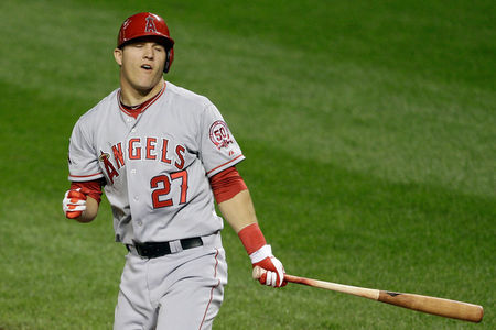 Trout missed the 1st 25 games of the 2012, in which the team went 8-15, once he was there they went 81-58, narrowly missing a playoff birth.  Trout ran away with the AL Rookie Of the Year hitting .326 with 30 HRs, 83 RBI and led the AL in Runs (129) and SB (49) in  just 139 Games. He also finished 2nd in AL MVP Voting and took home a Silver Slugger Award for his campaign/