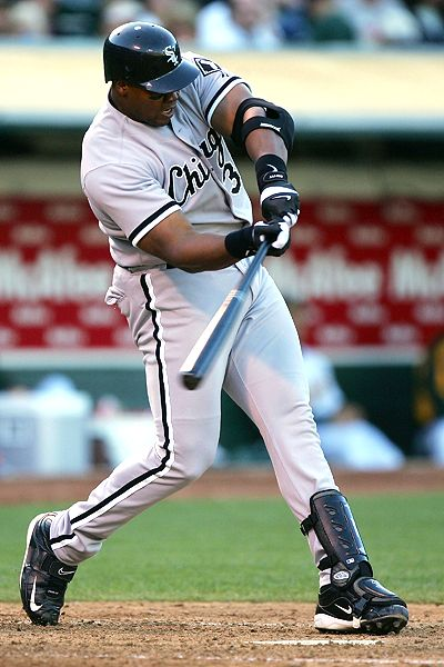 Frank Thomas was a DH for more than half the games of his Career.  His 3 slash line for his Career was .301/.419/.974 with 521 HRs and 1704 RBI.  He also had 8 straight years of 100 RBI+, .300+ Avg and 100 RBI
