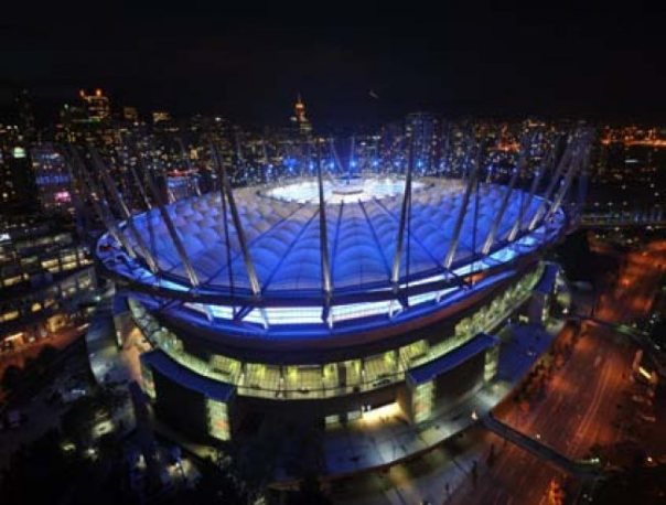 Newly renovated BC Place Stadium, with $600 Million Dollars in upgrades, re-opened on Sept.30/2011 with and features a 100 by 85 retractable roof. The lights also illuminates different colors both inside and outside of the building.  The stadium could be converted to meet MLB specifications.  If Portland isn't on the MLB list of expansion because of the stadium issue, than perhaps another PAC NW team like Vancouver would get a shot.  A current team may even move there for  few years while a park in Portland is built.