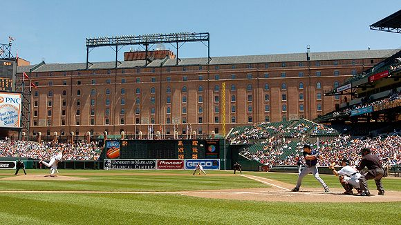 The 1st game of tomorrow's play will be held at beautiful Camden Yards..