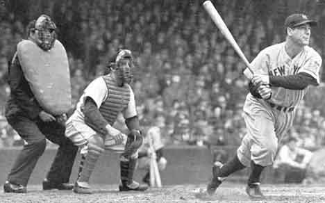 """Lou Gehrig was only 35 when he was diagnosed with ALS.  He had to retire right away and came back for what some would consider 'the greatest speech of all-time' on July.4, 1939.  It was the """"I am the Luckiest Man on the face of the Earth"""" speech.  Gehrig died June.2, 1941 at the age of 37. --Photo courtesy of ultimateyankees.com"""