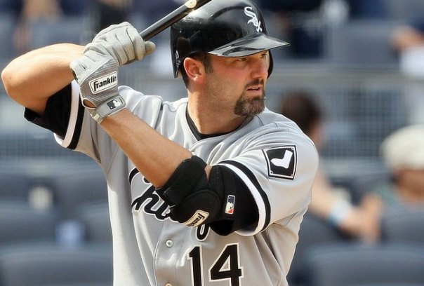 Paul Konerko announced that the 2014 season will be his last. Konerko has 439 career HR, 1412 RBI, and 6 All Star appearances in his 18 year career. What will most likely not be a HOF career, will certainly go down as one of the best in White Sox history. Konerko was the direct replacement for Frank Thomas.  Konerko is only 16 HRs behind Thomas for the White Sox franchise record.  While he will not reach that mark, his role may increase now with some DH AB.  Konerko, now 38, was a 1998 trade acquisition - with OF Mike Cameron going back the other way.  while Cameron was a nice Major Leaguer in his time.  Konerko should have his number retired by the club, and is the current active leader for HRs hit for just one team.