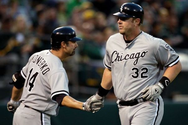 Paul Konerko and Adam Dunn likely both enter their last season with the White Sox.  If they can both contribute their usual numbers, with potentially better averages because of favorable splits, then maybe they could put forth a great year of production for the Chicago DH position.  If the Sox aren't in contention by July. Dunn would probably be traded, but if they could stick around, then all of a sudden you have 2 big boppers in your lineup that could propel you to a post season berth, if 1 or either of them goes off on one of their tears.