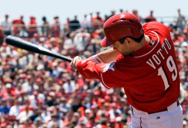 In his 1st half season during last year, Joey Votto clubbed for a 3 Slash Line of ..348/.471/1.124 with 35 Doubles, 14 HRs and 48 RBI.  He was the leading candidate to pull in his 2nd NL MVP Award.  Once he returned from injury, he was not the same - only plating 8 RBI and HRs in the last 28 games he played in