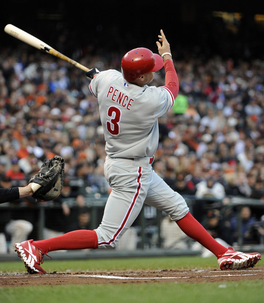 Pence was acquired by the Phillies in 2011, in a deal that could shape the Astros roster for years, with Jonathan Singleton and Jarred Cosart,  Pence hit for a 3 Slash of .290/.339/.479 during his time with the Astros.  The cash he just received (5 YRs/$90 MIL) would have been too rich for this team to compete while they were still rebuilding.