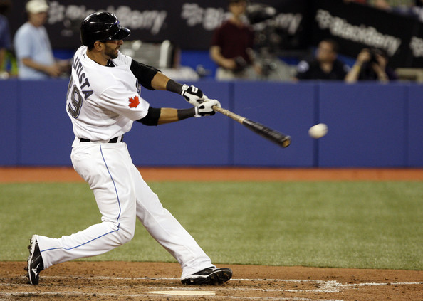 Between  Jose Bautista  and Edwin Encarnacion, they could both approach 40 HRs.  The teams offense has been good this year, however the Starting Pitching has been atrocious - the good news is the Skydome has been attracting big gates.  The team needs to put the pedal to the medal again in 2014.  I f the clubs inks anyone else to a deal, they should sign any SP that has quality stuff.