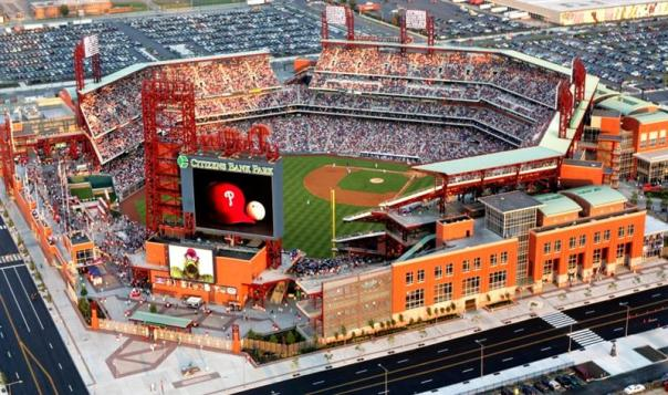 Citizens Bank Ball Park Opened in 2004 and has routinely brought in 102% for attendance over capacity including a sell out streak that lasted 257 games from 2009-2012.