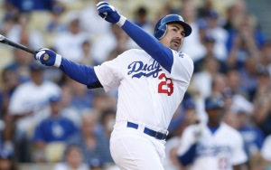 The clutch duties hasn't been solely relying on Kemp, but Adrian Gonzalez as well. He's the one player who has actually found numerous success in clutch situations. He is batting .337 with 2 HRs and 17 RBI.  Gonzalez will probably not approach his HR days from a few years ago - however he is a great gap hitter - and should be counted on for a about 60 - 70 Extra Base Hits this year.  Dodger first baseman is losing the first basemen votes even though he is leading the team in HRs with 10 and is hitting .297. He is behind in a race led by Reds' Joey Votto and Diamondbacks' Paul Goldschmidt.