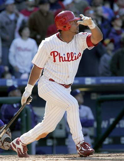Bobby Abreu was traded for Kevin Stocker and had 7 straight 20 HR/20 SB seasons for the Phillies from 1999-2005.  A player the franchise wish never got away.  He did not play for any other club in 2013, but has since said he plans to make a comeback in 2014.  If he does, he would become the active ALL - Time Leader for Doubles in the MLB.