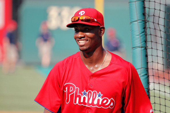 "Either way, if he remains in the 6th spot in the lineup, Domonic Larun Brown will bolster the middle of this Phillies lineup if he can continue to drive the ball with regularity. As I always explain hitting to those who'll listen as having so much to do with ""who's up next"", Brown's bashing will help Delmon Young see better pitches. If Delmon Young can also begin to get hot, the domino-effect would hopefully then fall to Howard. It's no fluke that Young has done his own mini-mashing over the past four games following Brown's 8-for-20 torrent over the previous five, perhaps making this writer eat some crow:"
