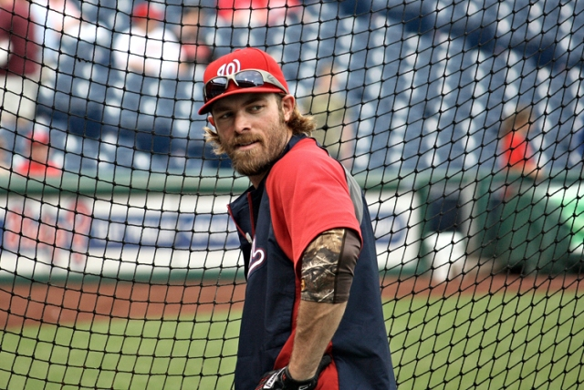 Jayson Werth was given a 7 YR/$126 MIL by the Nationals prior to the 2011 season with Washington.  It was a signal the club was about to compete, and came on the heels of several draft picks as a result of poor finishes.  The club have selected Jordan Zimmermann, Ryan Zimmerman, Stephe stras