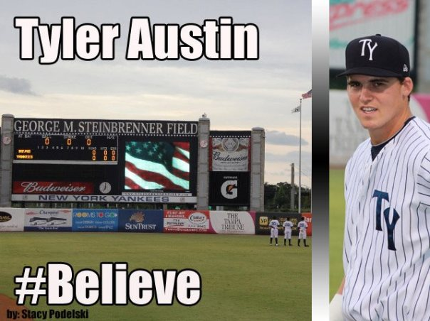 Tyler Austin had been invited to Major League Camp this year,  Both he and Mason Williams, made our top 100 Prospects list.  Tyler Austin has hit for a 3 Slash Line of .235/.291/.663 in 12 games with the Trenton Thunders.  In 51 AB he has driven in 10 RBI and scored 8 Runs.