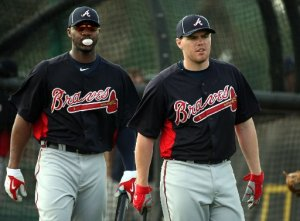 Freddie Freeman and Jason Heyward are the future of this team.  Having said that, Freeman has displayed a little bit more consistency in his play to start their Careers.  In 1908 AB so far (about 3 full years), Freeman has a 3 Slash Line of .285/.355/.466 with 68 HRs and 280 RBI.  2013 saw him make his 1st ALL - Star Game, and finish 5th in NL MVP Voting by going .319/.396/.501 - with 23 HRs and 109 RBI despite missing 15 games.