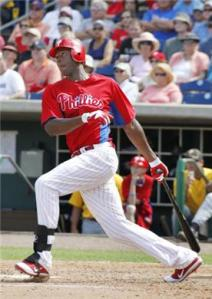 Heading into action on Sept.5/2012 John Mayberry JR has hit 35 HRs in 777 Career AB.  This are numbers just a little above a full season.  If Mayberry can produce 30 HRs at the league minimum for wage, it would the teams salary structure.