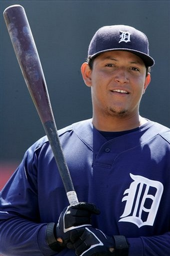 Miguel Cabrera is absolutely unconscious this season so far;.  He has a 3 Slash Line of .369 (Leads AL)/.445 (Leads AL/1.121 (2ndi n AL), with 17 HRs (2nd AL) and a mind - blowing 65 RBI through 54 Games Played.  He is on pace for 51 HRs. 195 RBI and about 250 Hits.  He keeps getting better every single year if possible. Despite his prominence - and a lineup full of ALL - Star hitters and Pitchers, the Tigers are limping along at just a few games over .500.  It certainly isn't this 30 Year Olds fault.
