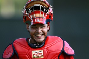 Yadier Molina recently signed a 5-year contract with St. Louis worth $75 million or $15 million a year.  He signed the deal after his 2011 season -where he hit .305 with 14 HRs and 65 RBI.