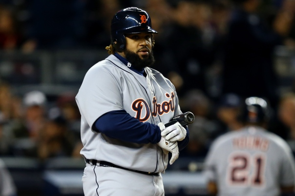 Prince Fielder will turn 29 in May.  Throughout my studies of some extremely tall - or heavy player, the time of deterioration in ones ability seems to seep in about 34.  In my opinion, the club should move to trade Victor Martinez and shift Fielder over to the DH position ASAP, so they can preserve his  body for the next 8 years of his contract.  He will be 37 when his big deal ends.  Fielder has a Career 3 Slash Line of .287/.393/.931
