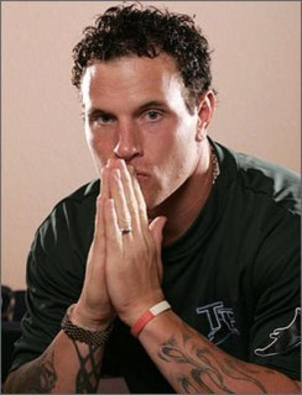 Josh Hamilton from a much younger time in his life.  He fought off his drug addiction in his early 20's, to become one of the best players in the game from 2008 - 2012.  Following a recent list of injuries and personal battles, he has suffered a relapse in his addiction.  Hamilton met with the MLB yesterday in New York, and has reportedly admitted to at least using cocaine.