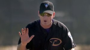 Matt Williams was an original Diamondbacks player - when he was traded from the Indians for Travis Fryman.  Williams - who suffered World Series losses with San Francisco and Cleveland, before coming to the desert, finally cashed in with Arizona in 2001