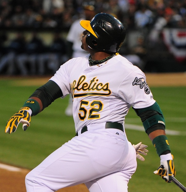 There is no doubt that he breakout A's club coincided with the Free Agent signing of the 28 year old Cespedes. While he has shown flashes of super stardom, the OF was only signed through 2015 - and would need to be moved next year - as to not lose the asset.  Cespedes will help Boston for the next 14 months, by hitting cleanup potentially, give the Beantowners a power threat to protect David Ortiz, and they may net themselves Jon Lester back in the offseason anyway.  After posting a .861 OPS during his rookie campaign Cespedes has hit for OPS's of .737 and .767 over the last few years.  He is a great force at the plate, but the A's could sacrifice some of their vaunted offense to strengthen their Starting Staff.
