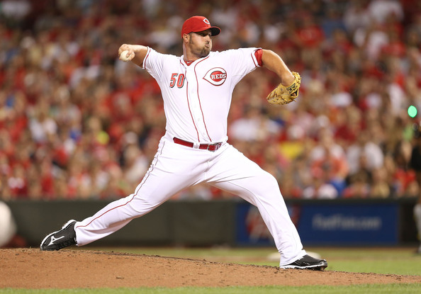 Jonathan  Broxton went 4-5 with a 2.48 ERA and 27 Saves in 2012, while he split time between the Reds and Royals Franchises.