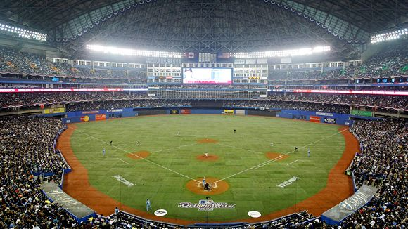 The SkyDome was opened in May of 1989.  For the championship ERA, the club drew 4 Million fans each per year.  In recent years, it was tough for the club to draw 2 Million fans.  In 2013, with the promise of a new club mantra, based on Free Agent signings, the team held the best year to year attendance boost in 2013.  I doubt they will be able to do this again in 2014.