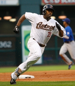 Michael Bourn was a dynamic player for the Astros, and maybe they could have kept he and Pence for the rebuild - however the management was looking to scale down the payroll so Jim Crane could purchase the club.  Bourn has not put up great numbers since signing his 2013 Free Agent deal with the Indians.