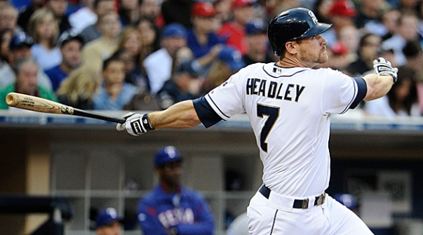 Chase Headley had an incredible 2012 - where he led the NL in RBI, and cracked the 30 HR Barrier.  The club did not sign him to an extension - nor did they trade him before the 2013 campaign, which has meaning.  While it is great they didn't make a long - term mistake, they also de-valued their asset, should the team decide to trade him before he hits Free Agency in 2015.  The Padres 3B hit for a 3 Slash Line of .247/.350/.747 - with 13 HRs and 50 RBI in 520 AB this previous campaign.  Headley will not warrant much of a raise in his 2014 Arbitration.