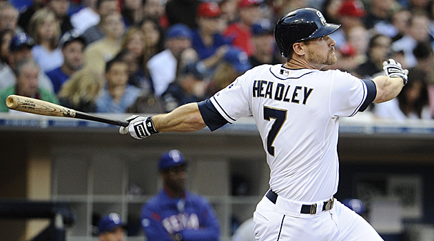 Chase Headley had an incredible 2012 - where he led the NL in RBI, and cracked the 30 HR Barrier.  The club did not sign him to an extension - nor did they trade him before the 2013 campaign, which has meaning.  While it is great they didn't make a long - term mistake, they also de-valued their asset, should the team decide to trade him before he hits Free Agency in 2015.  The Padres 3B hit for a 3 Slash Line of .247/.350/.747 - with 13 HRs and 50 RBI in 520 AB this previous campaign.  Headley is probably gone out of San Diego no matter what happens this year.