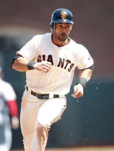 Angel Pagan led the NL in Triples with 15 in 2012 amongst his 61 Extra Base Hits and 95 Runs