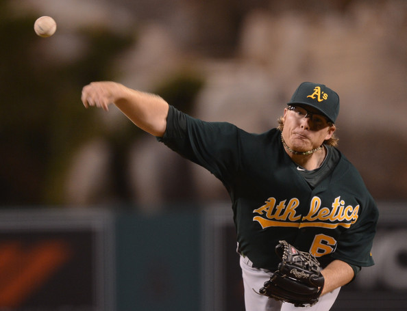 A.J. Griffin would have been the ace of this staff, and I would have projected a 16 - 10 record and a low 3 ERA if he wouldn't have come down with injury. With a strained elbow, I am leery of placing any projections on the man.  At 26, he would have been entering his 3rd year in the bigs.